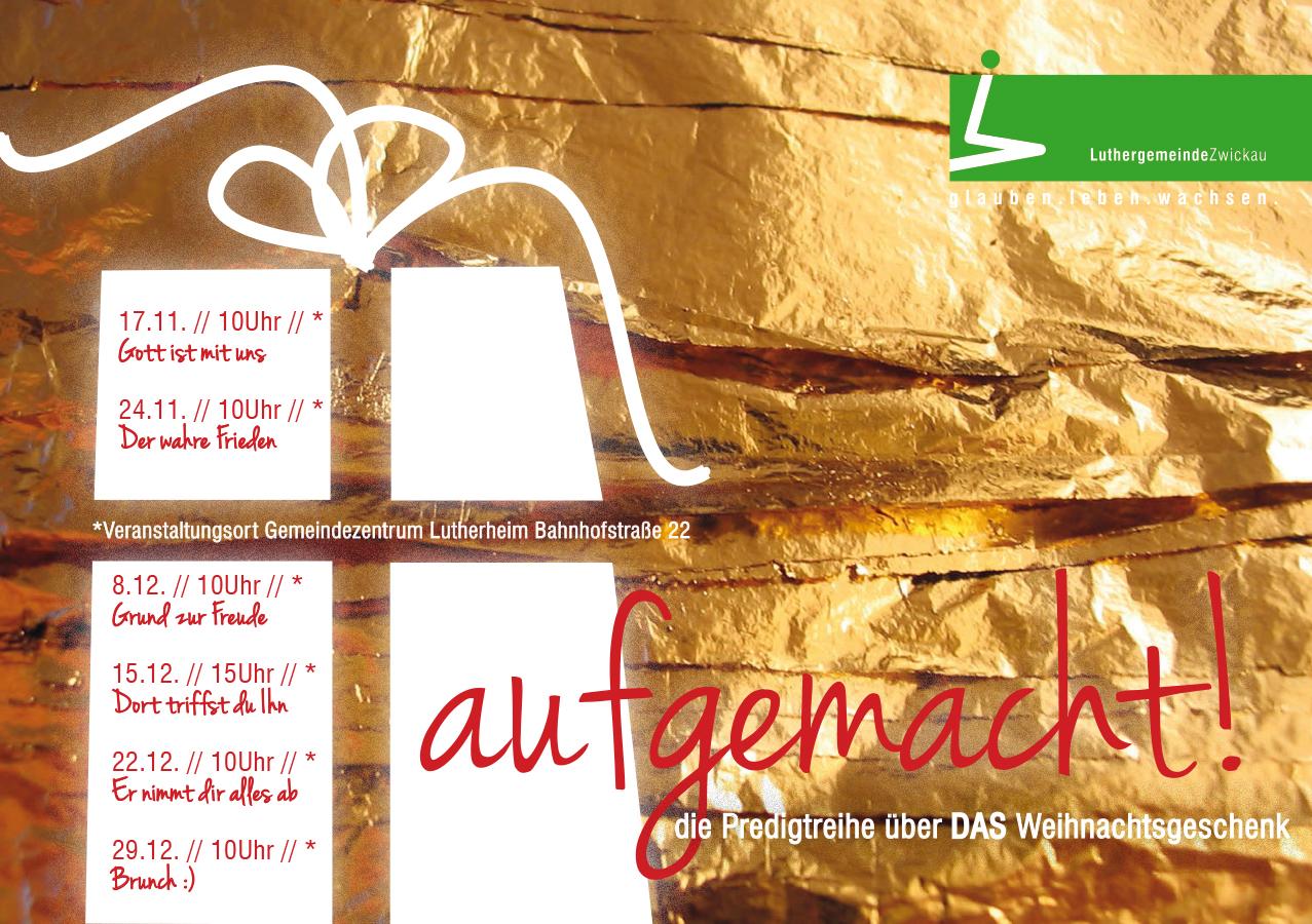 Luthergemeinde Zwickau Predigtreihen 4 Modul